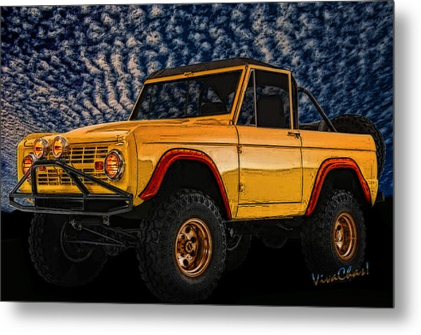 69 Ford Bronco 4x4 Restoration Metal Print
