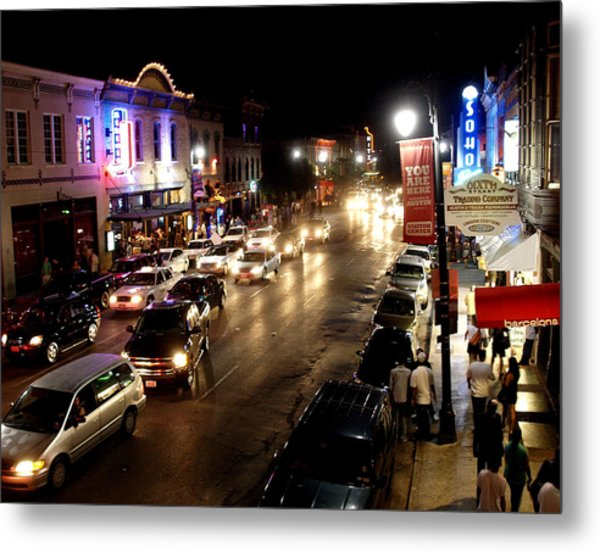 6th Street Austin Texas Metal Print