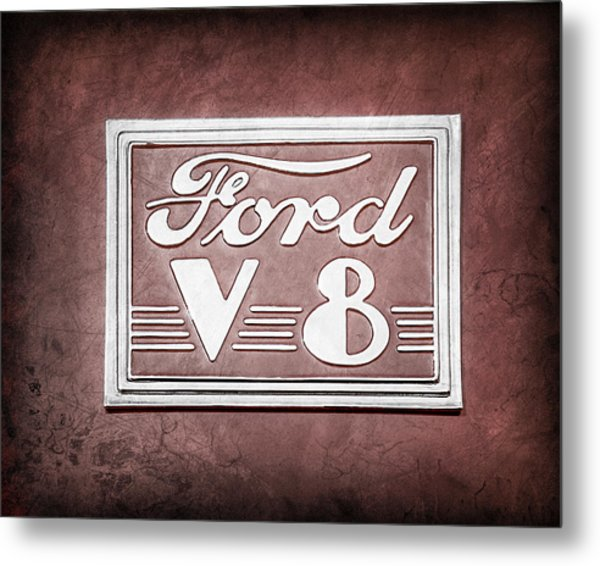 1940 Ford Deluxe Coupe Emblem Metal Print