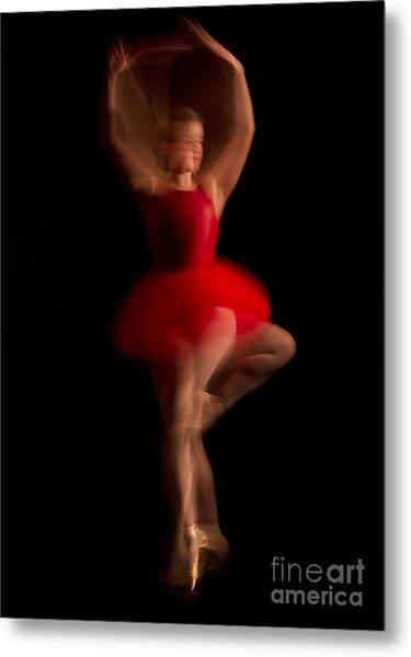 Ballet Dancer In Red Tutu Metal Print