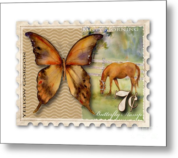 7 Cent Butterfly Stamp Metal Print