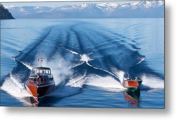 Lake Tahoe Wooden Boats Metal Print by Steven Lapkin