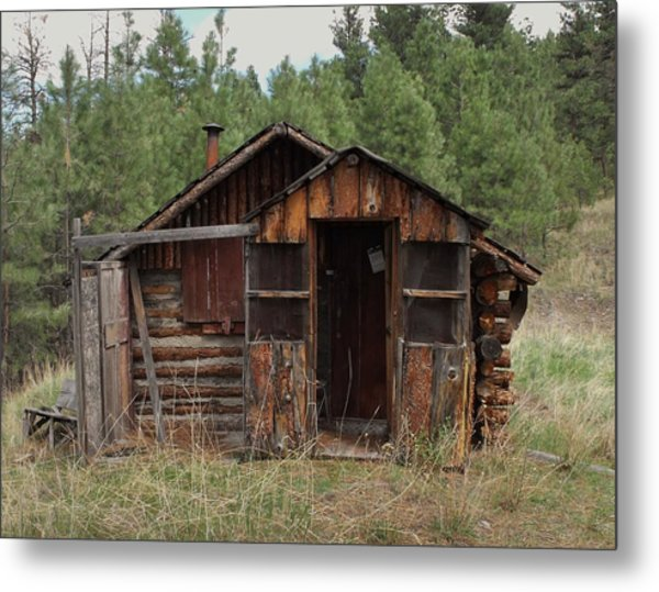 Old And Abandoned Metal Print by Yvette Pichette