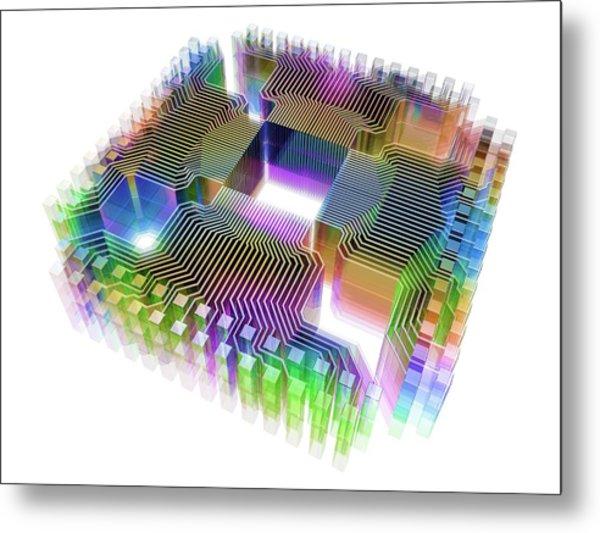 Quantum Computer Metal Print by Alfred Pasieka
