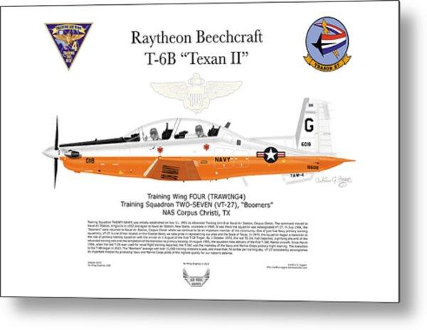 Raytheon Beechcraft T-6b Texan II Metal Print