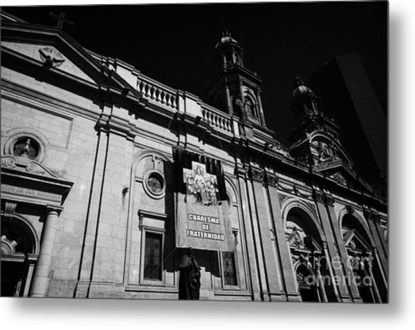 Santiago Metropolitan Cathedral Chile Metal Print by Joe Fox