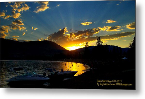 Skaha Lake Sunset Metal Print