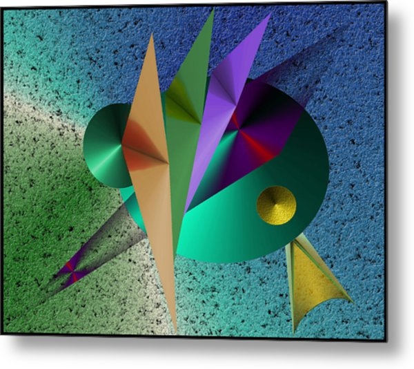 Abstract Bird Of Paradise Metal Print