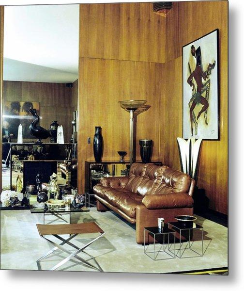 Yves Saint Laurent's Living Room Metal Print by Horst P. Horst