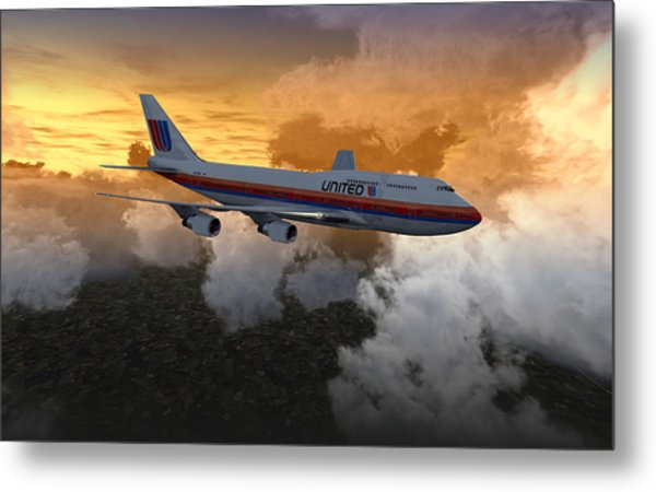 747 28.8x18 03 Metal Print