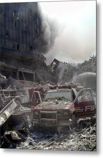 9-11-01 Wtc Terrorist Attack Metal Print