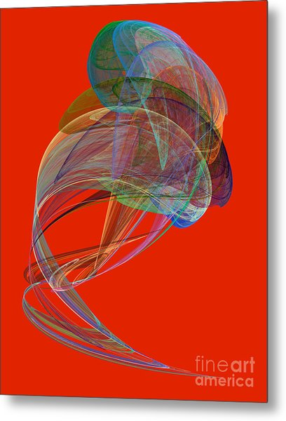 Abstract Futuristic Shape Metal Print by Odon Czintos