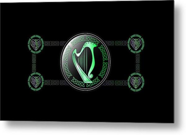 Celtic Harp Metal Print