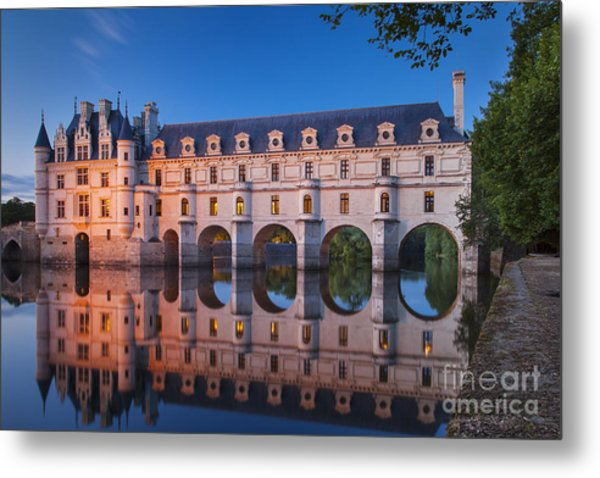 Metal Print featuring the photograph Chateau Chenonceau by Brian Jannsen