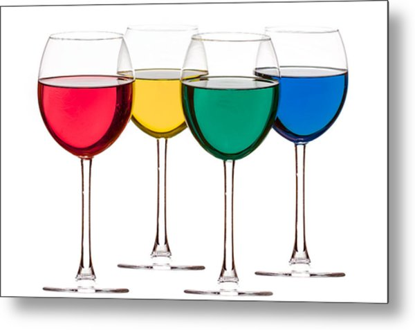 Colorful Drinks Metal Print