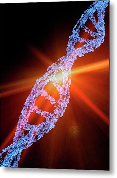Crispr-cas9 Gene Editing Metal Print by Alfred Pasieka/science Photo Library