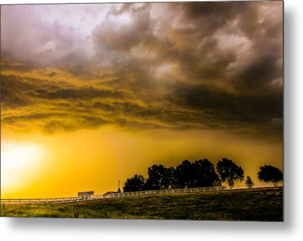 Late Afternoon Nebraska Thunderstorms Metal Print
