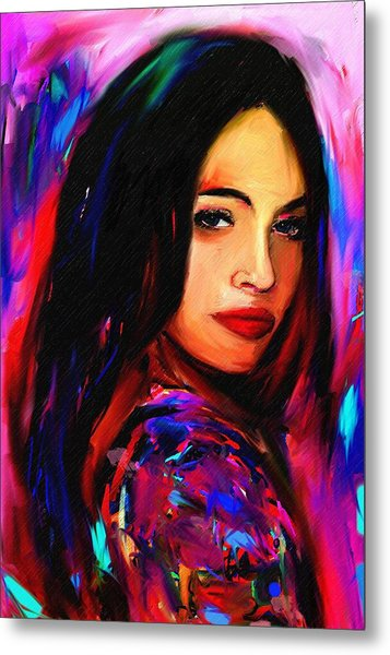 Megan Fox Metal Print by Bogdan Floridana Oana