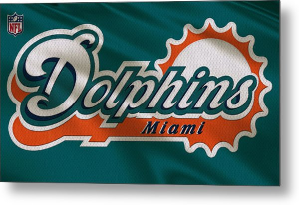 Miami Dolphins Uniform Metal Print