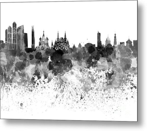 Moscow Skyline White Background Metal Print
