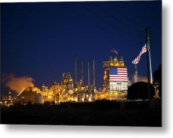 Oil Refinery Metal Print