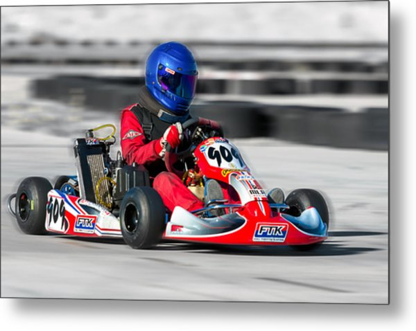 Racing Go Kart Metal Print