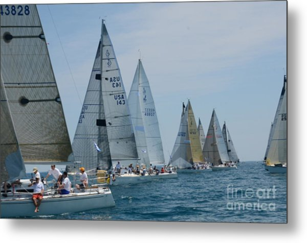 Sailboat Race Metal Print