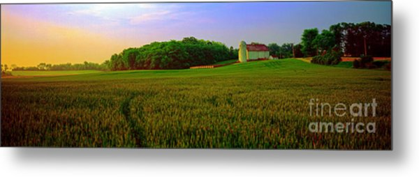 Conley Road, Spring, Field, Barn   Metal Print