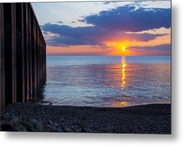 8.16.13 Sunrise Over Lake Michigan North Of Chicago 001 Metal Print