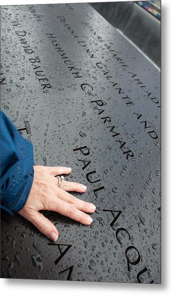 8462 911 Memorial A Touch Of A Hand Metal Print by Deidre Elzer-Lento