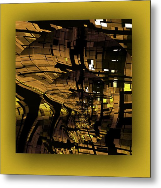Metal Print featuring the digital art Contemporary by Mihaela Stancu