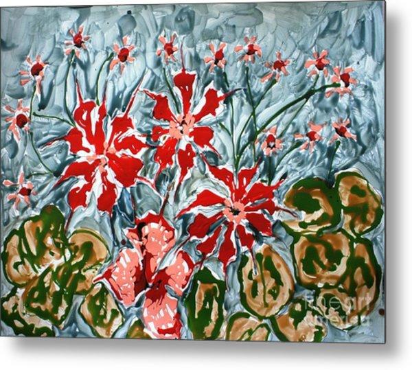 Mann Flowers Metal Print by Baljit Chadha