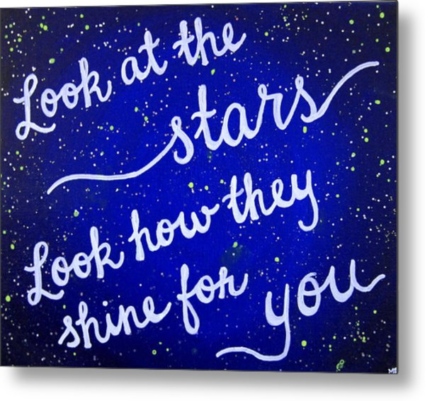 8x10 Look At The Stars Metal Print