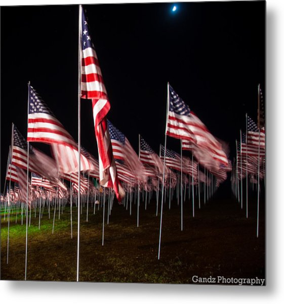 9-11 Flags Metal Print