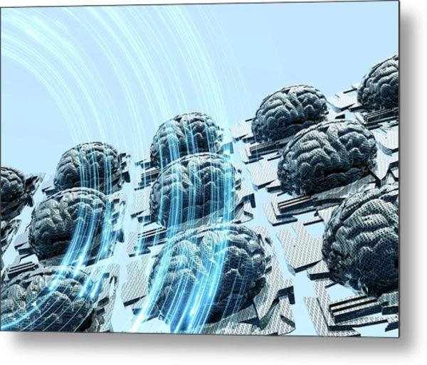 Artificial Intelligence Metal Print by Victor Habbick Visions/science Photo Library