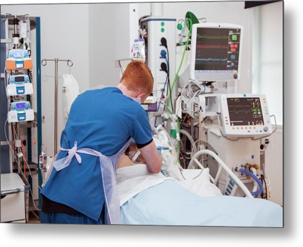 Intensive Care Unit Metal Print by Life In View