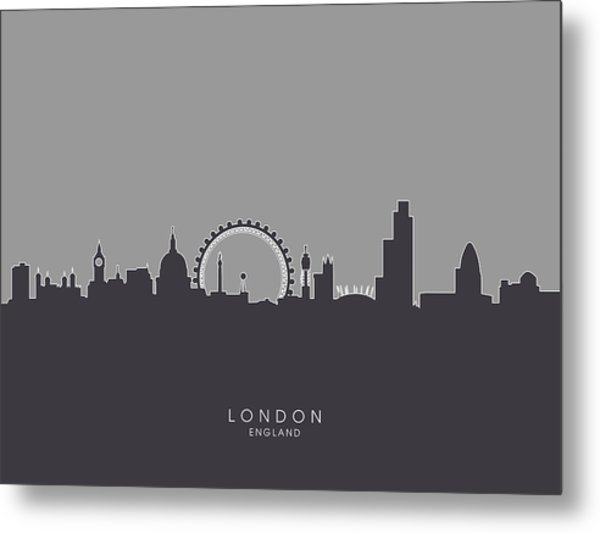London England Skyline Metal Print