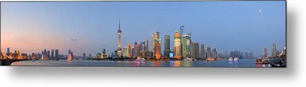 Shanghai Cityscape Metal Print