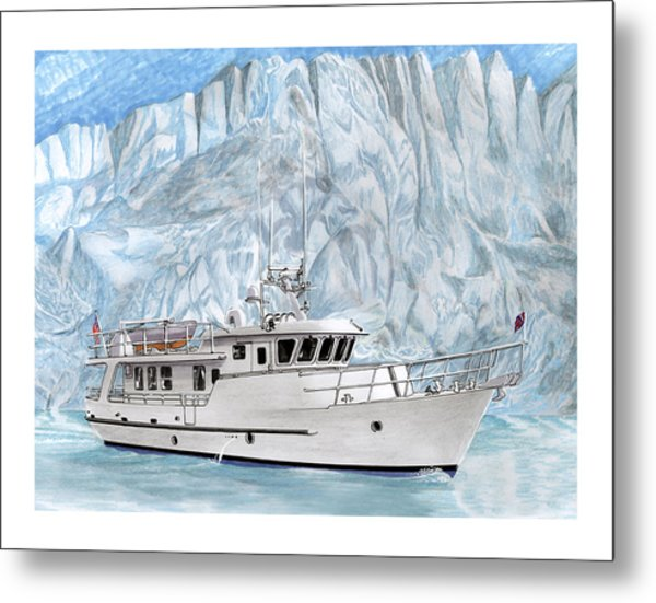 Its Cold As Ice Its Paridise Metal Print