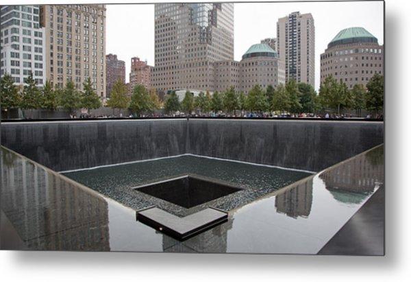 911 Memorial Pool Nyc Metal Print