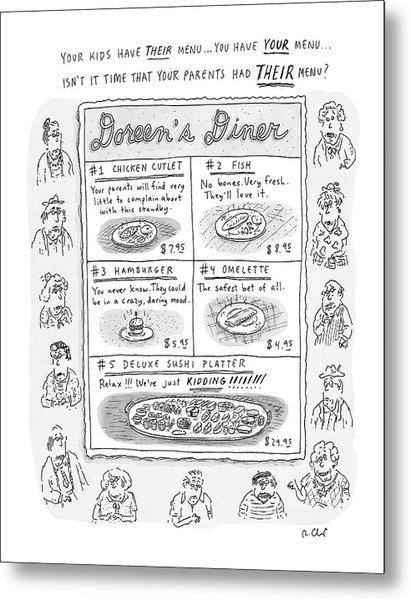 Doreen's Diner Metal Print