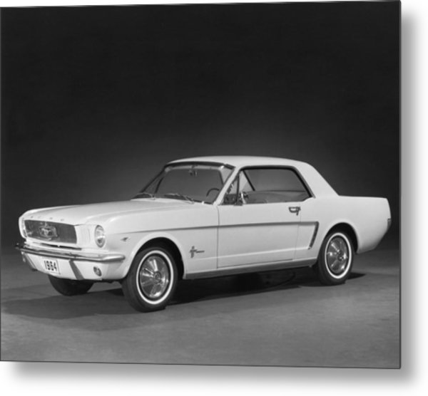 A 1964 Ford Mustang Metal Print