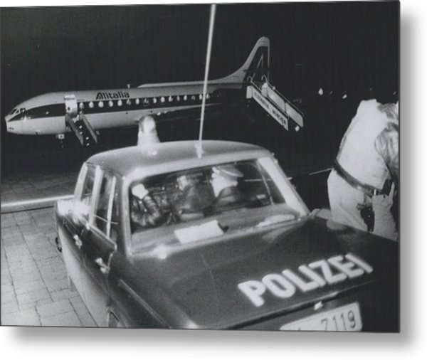 A Aeroplane Hijacked To Munich Metal Print by Retro Images Archive