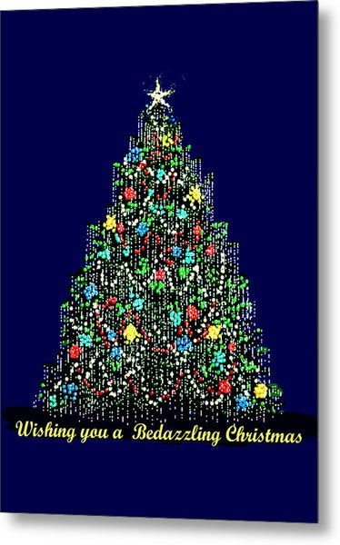 A Bedazzling Christmas Metal Print