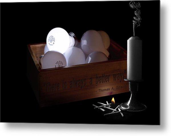 A Better Way Still Life - Thomas Edison Metal Print