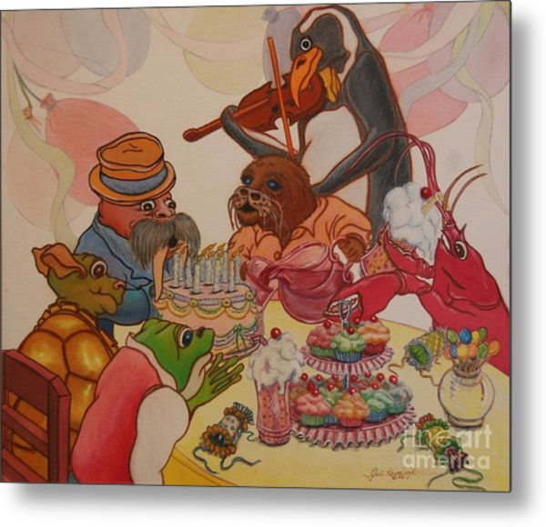 A Birthday Surprise Metal Print