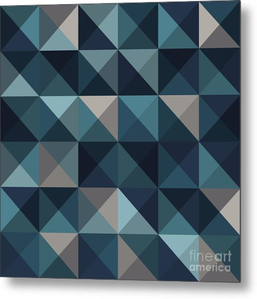 A Blue Abstract Vector Pattern Metal Print