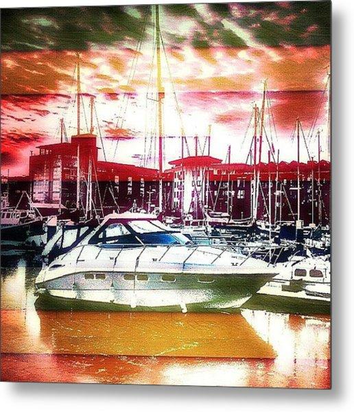 A Boat In Kingston Upon Hull Marina Metal Print