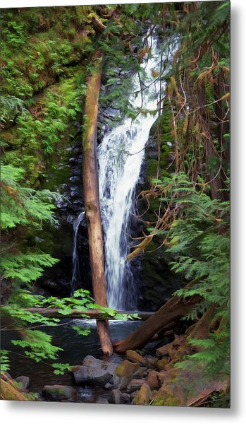 A Breathtaking Waterfall. Metal Print