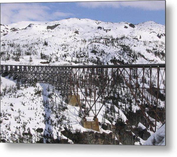 A Bridge In Alaska Metal Print